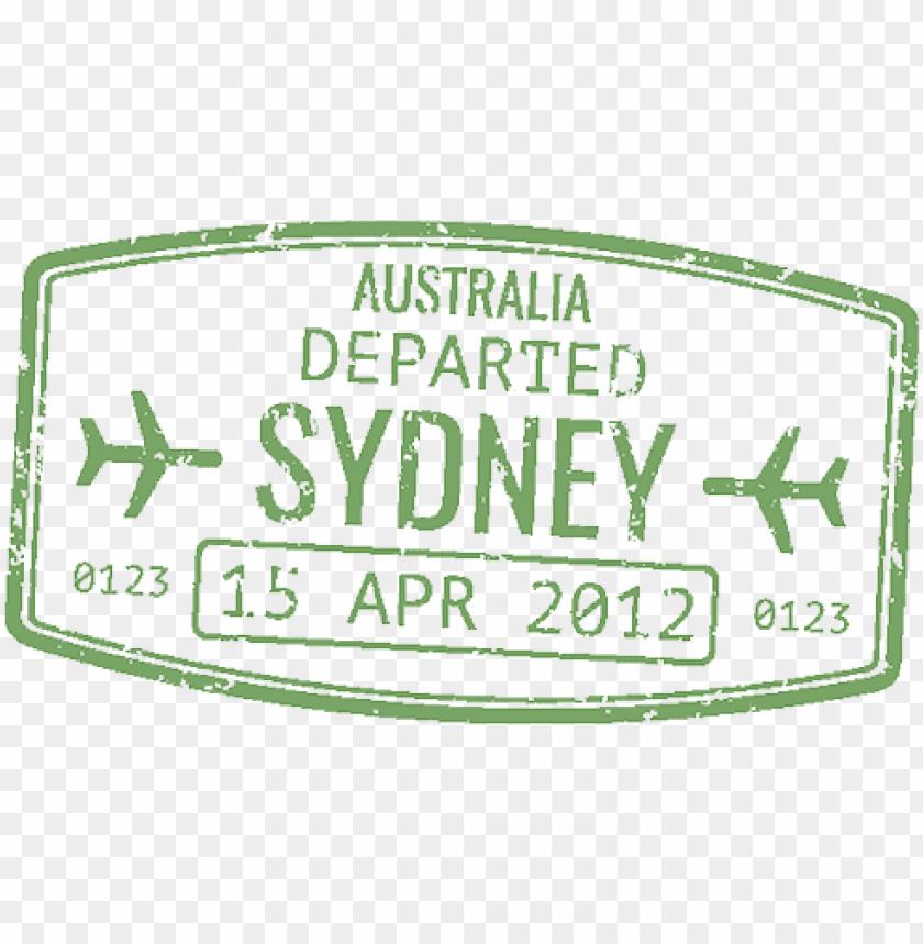 Assport Stamp Sydney Australian Passport Stamp Png Image