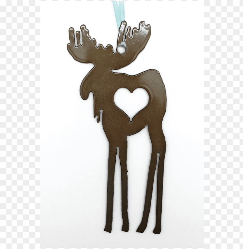free PNG atina metal moose heart ornament - reindeer PNG image with transparent background PNG images transparent