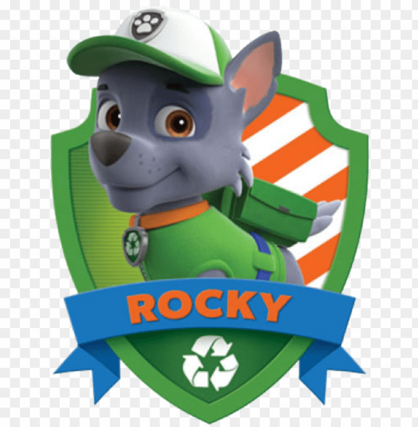 free PNG atrulha canina rocky 5 png - cakeusa paw patrol stickers paw patrol decals birthday PNG image with transparent background PNG images transparent