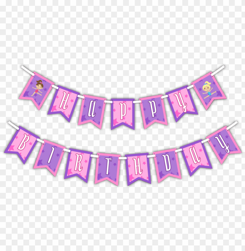 """free PNG attractive gymnastics star """"happy birthday"""" party banner - emoji happy birthday banner PNG image with transparent background PNG images transparent"""