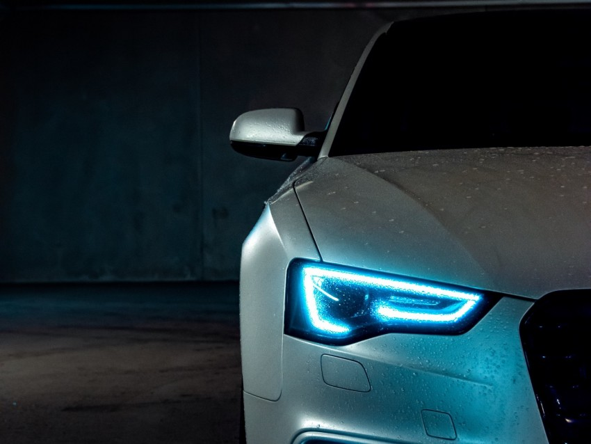 free PNG audi a5, audi, headlight, light, neon, xenon background PNG images transparent