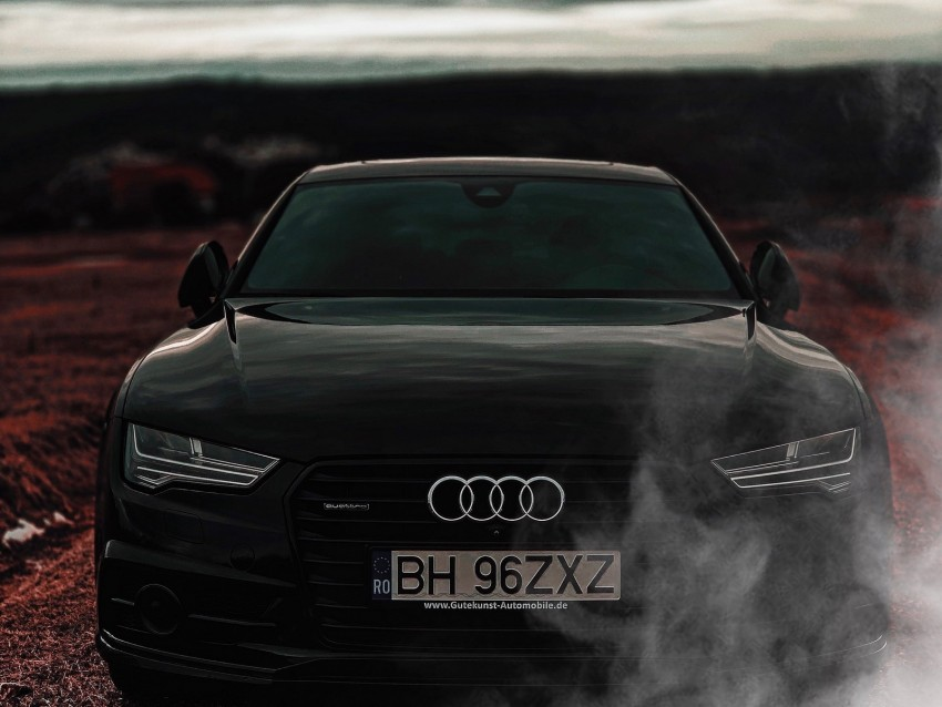free PNG audi a7, audi, black, front view, headlights background PNG images transparent