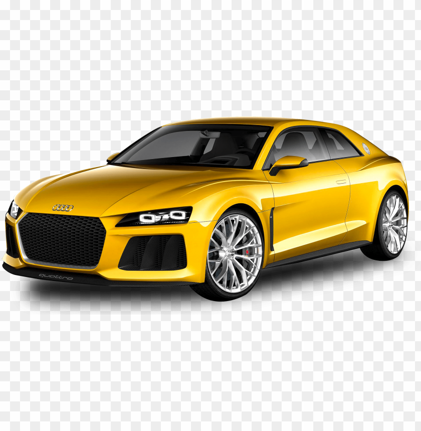 free PNG audi car png image side view - audi car in yellow PNG image with transparent background PNG images transparent