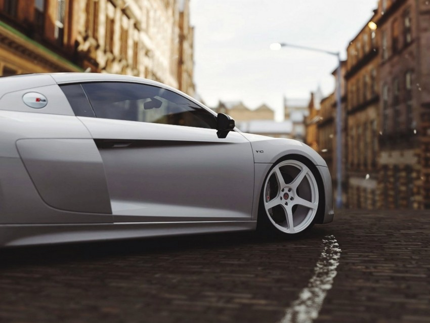 free PNG audi r8, audi, wheel, side view background PNG images transparent
