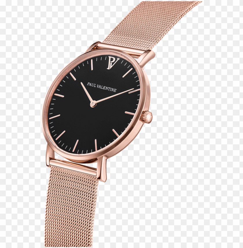 free PNG aul valentine watch rose gold PNG image with transparent background PNG images transparent
