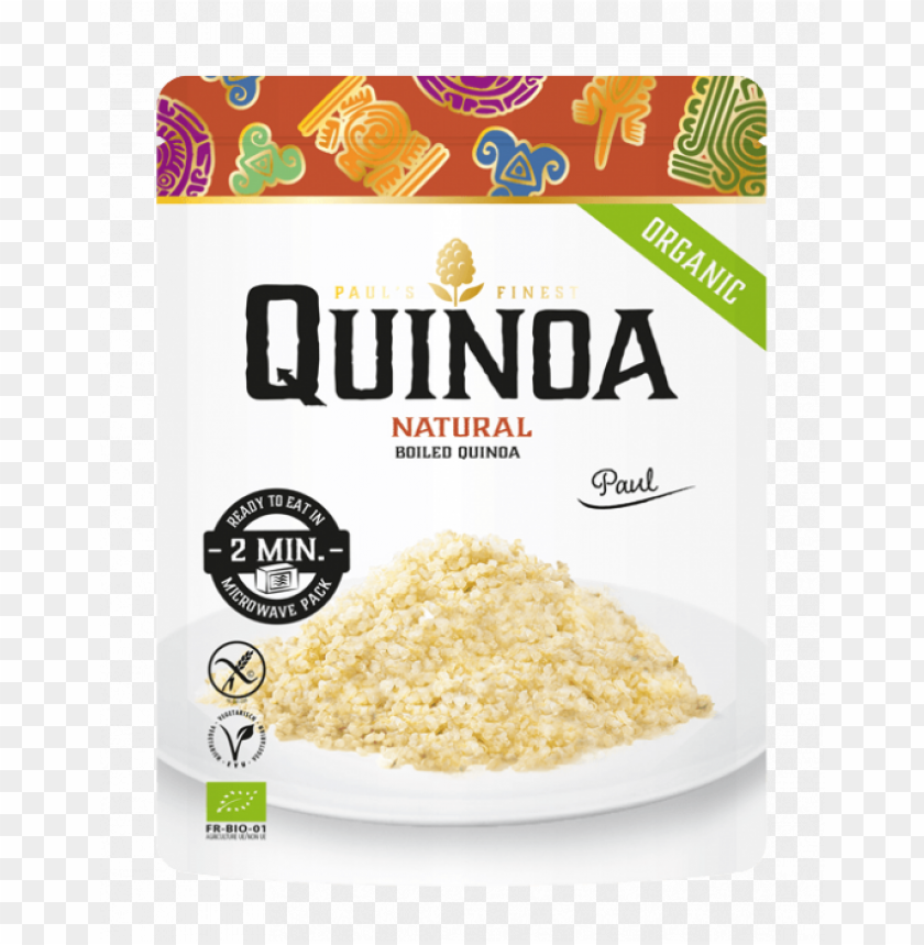free PNG aul's quinoa naturel microwavable pouch - paul's quinoa PNG image with transparent background PNG images transparent