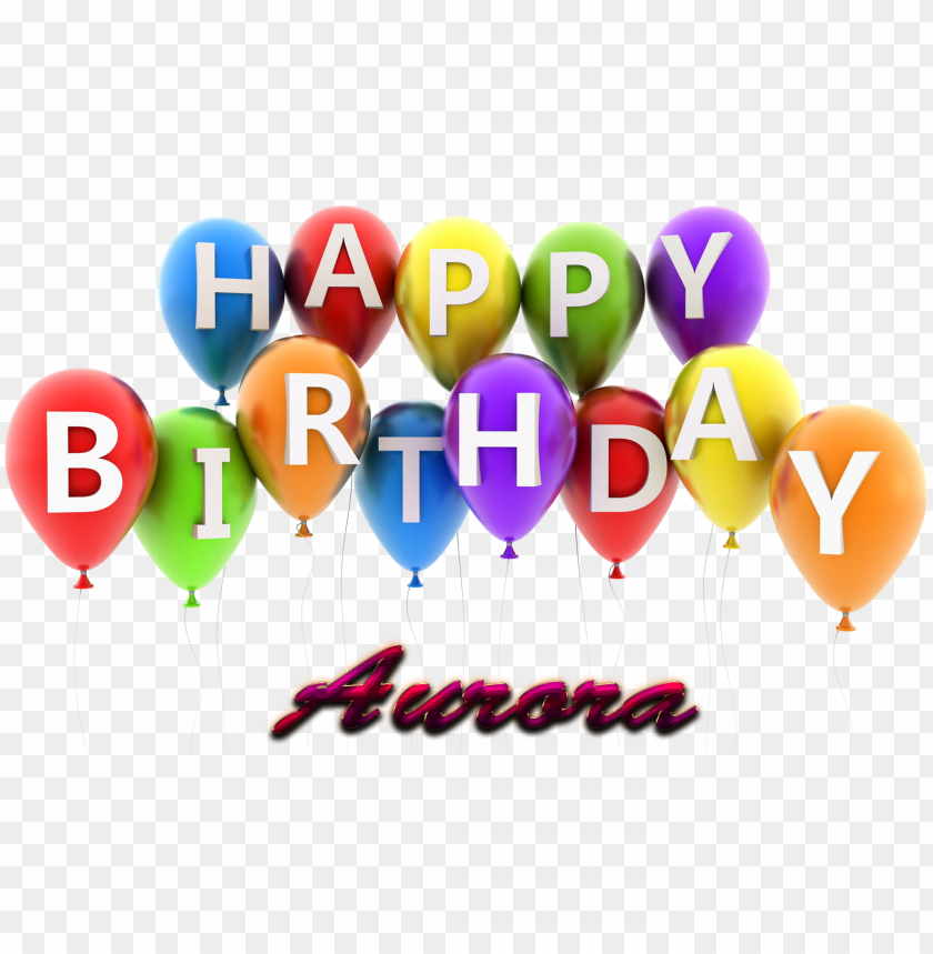 free PNG aurora happy birthday balloons name png - happy birthday aman cake PNG image with transparent background PNG images transparent