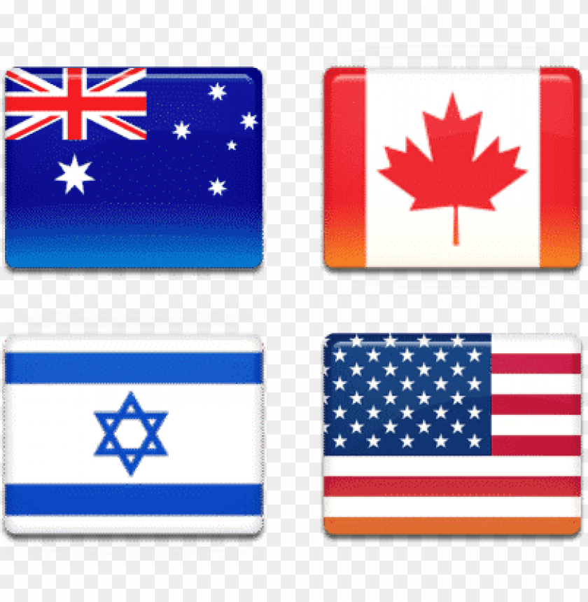 free PNG australia, canada, israel, usa flags - india us and israel PNG image with transparent background PNG images transparent
