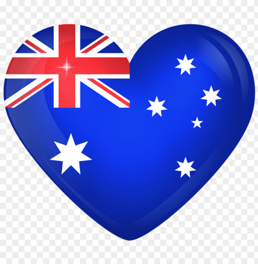free PNG Download australia large heart flag clipart png photo   PNG images transparent