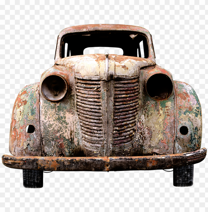 free PNG auto, old, pkw, old car, rarity, car age, retro - car old rusted PNG image with transparent background PNG images transparent