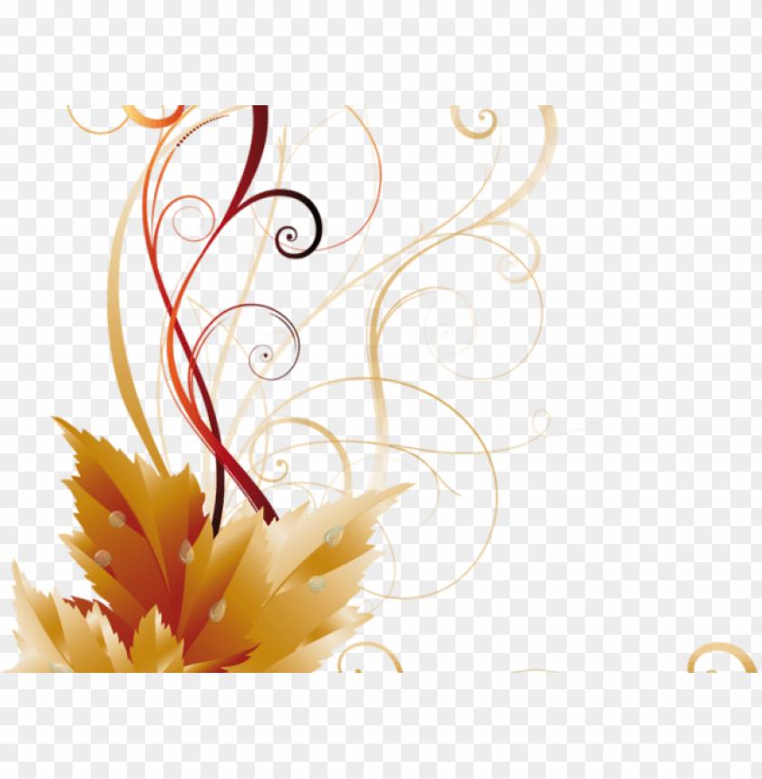 free PNG autumn leaves clipart corner border - side border design PNG image with transparent background PNG images transparent