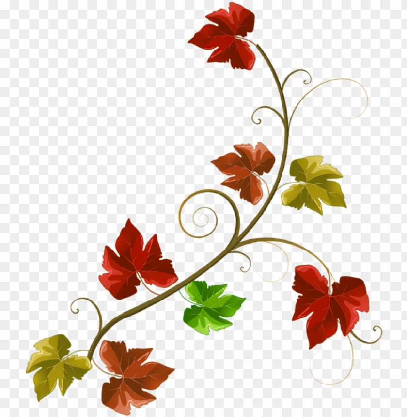 free PNG autumn leaves decoration clipart png image - autumn leaves decoration PNG image with transparent background PNG images transparent