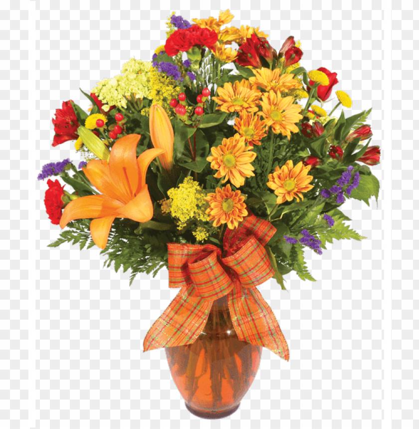 Autumn Meadow Large Fall Flower Arrangement Png Image With Transparent Background Toppng