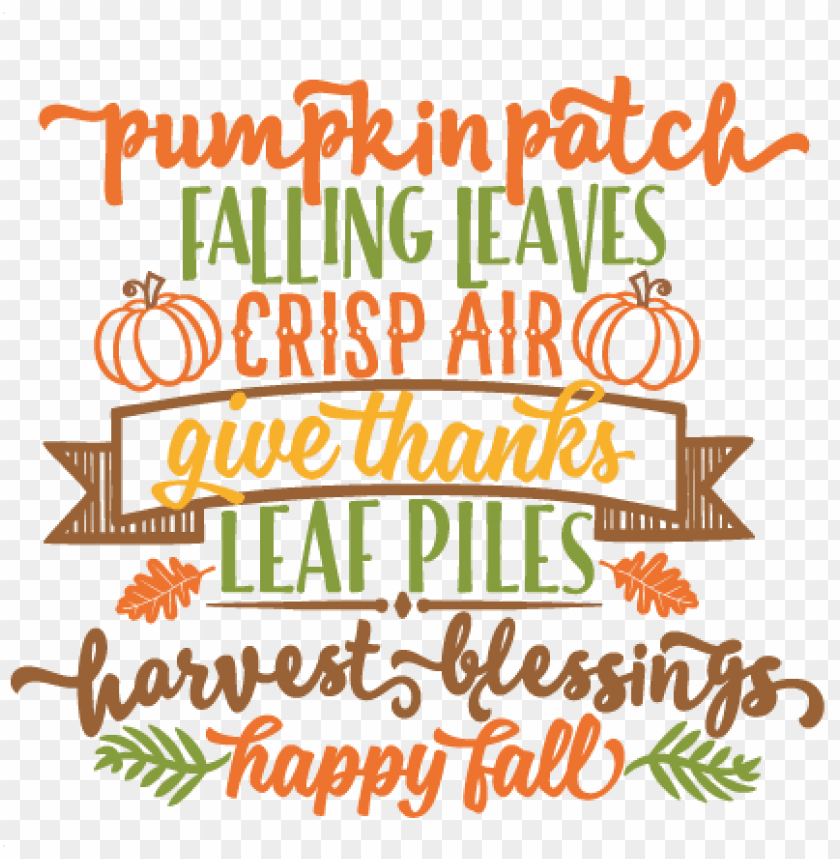 free PNG autumn word art svg scrapbook cut file cute clipart - fall word art sv PNG image with transparent background PNG images transparent