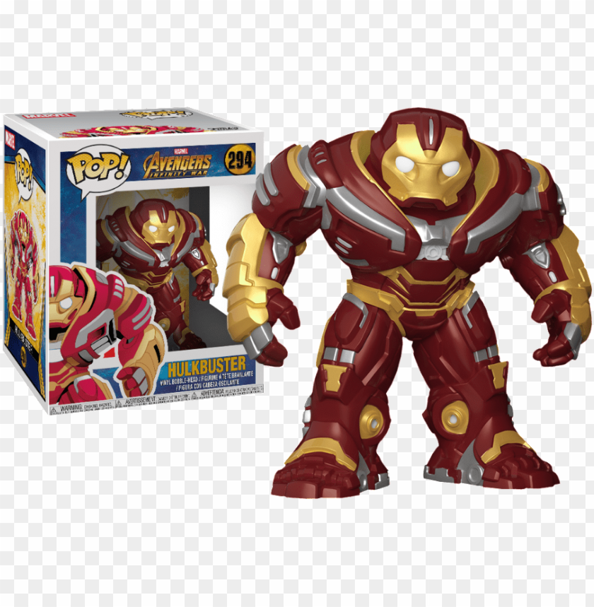 free PNG avengers infinity war hulkbuster 6-inch pop vinyl figure - hulkbuster funko pop infinity war PNG image with transparent background PNG images transparent