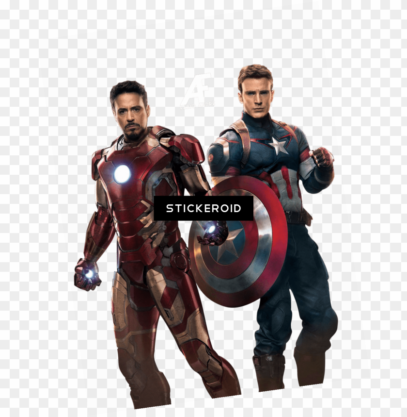 free PNG avengers ironman captain america - iron man capitán américa PNG image with transparent background PNG images transparent