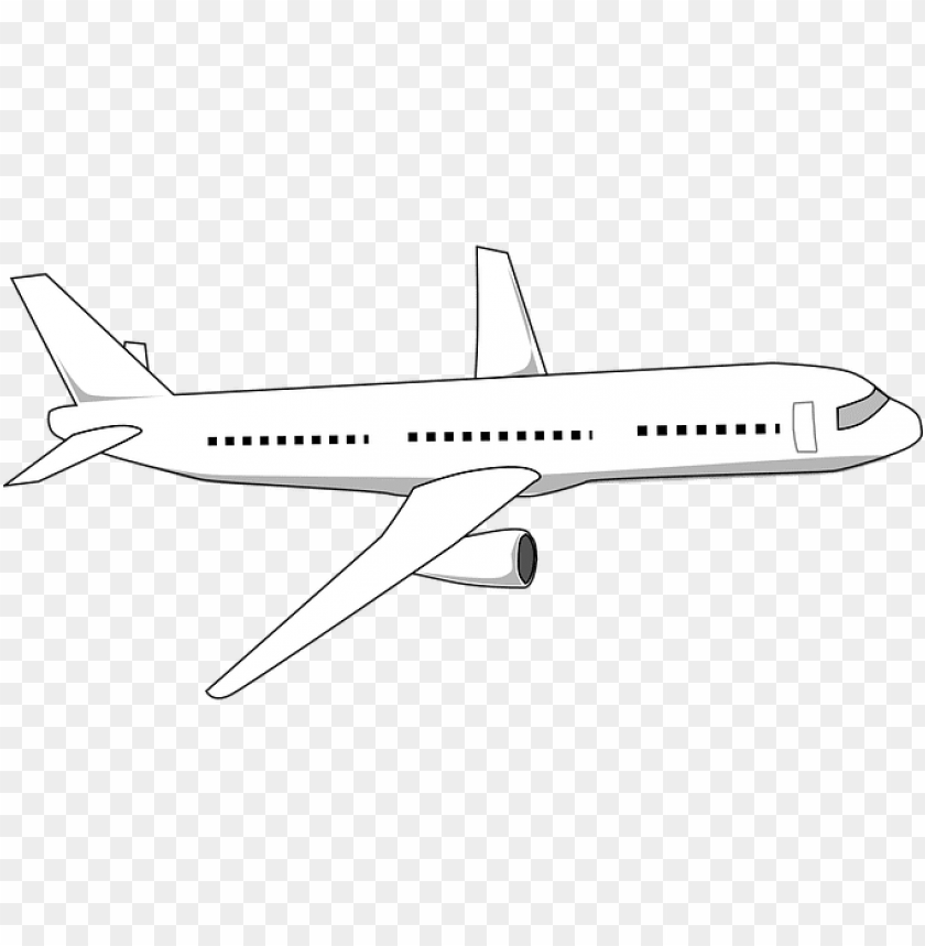 Aviao Em Preto E Branco Png Image With Transparent Background Toppng