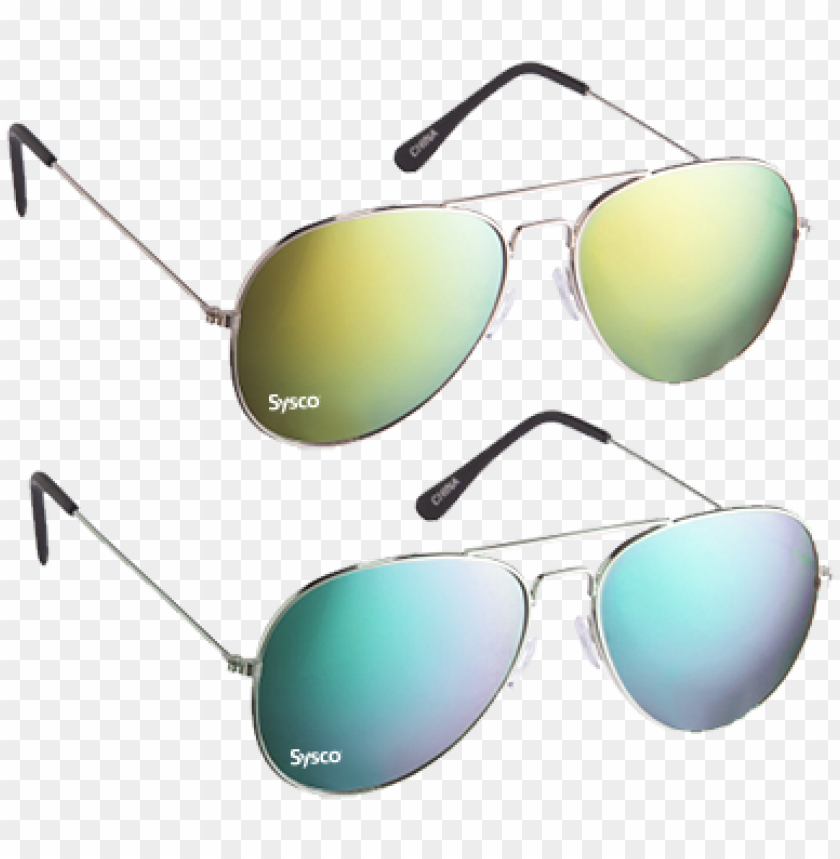 free PNG aviator sunglasses - 100 branded sunglasses - color mirrored aviator sunglasses PNG image with transparent background PNG images transparent