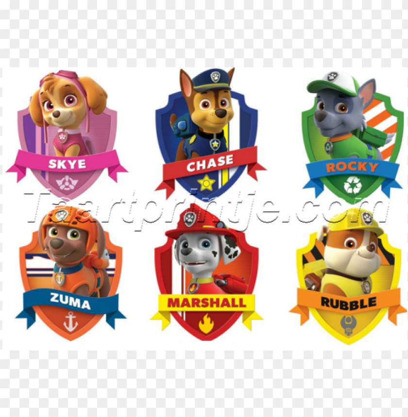 free PNG aw patrol badges - paw patrol with names PNG image with transparent background PNG images transparent