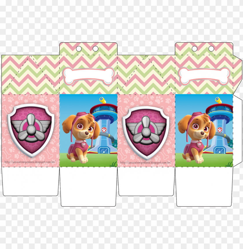 free PNG aw patrol birthday, paw patrol party, candy boxes, - nickelodeon paw patrol skye pup & badge actio PNG image with transparent background PNG images transparent