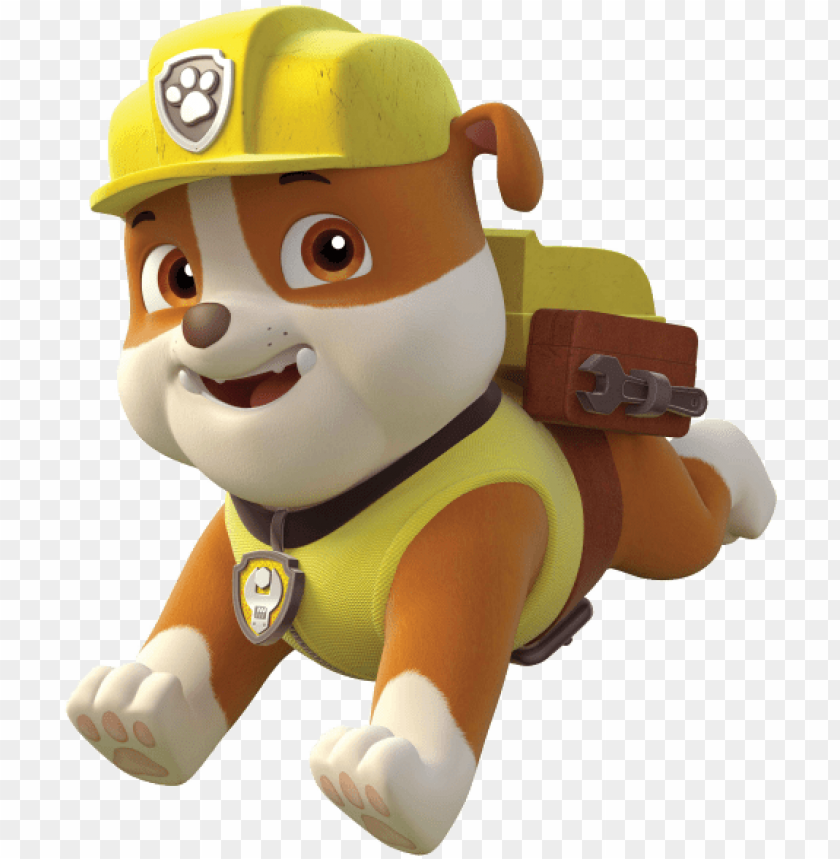 free PNG aw patrol personajes - printable paw patrol rubble PNG image with transparent background PNG images transparent