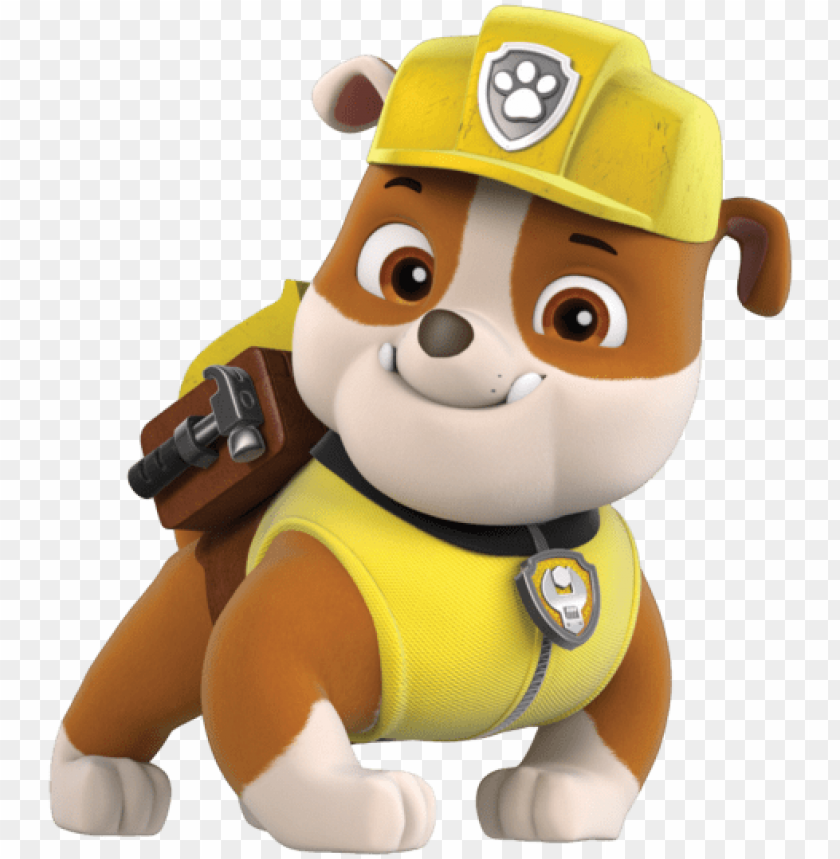 free PNG aw patrol - rubble paw patrol PNG image with transparent background PNG images transparent