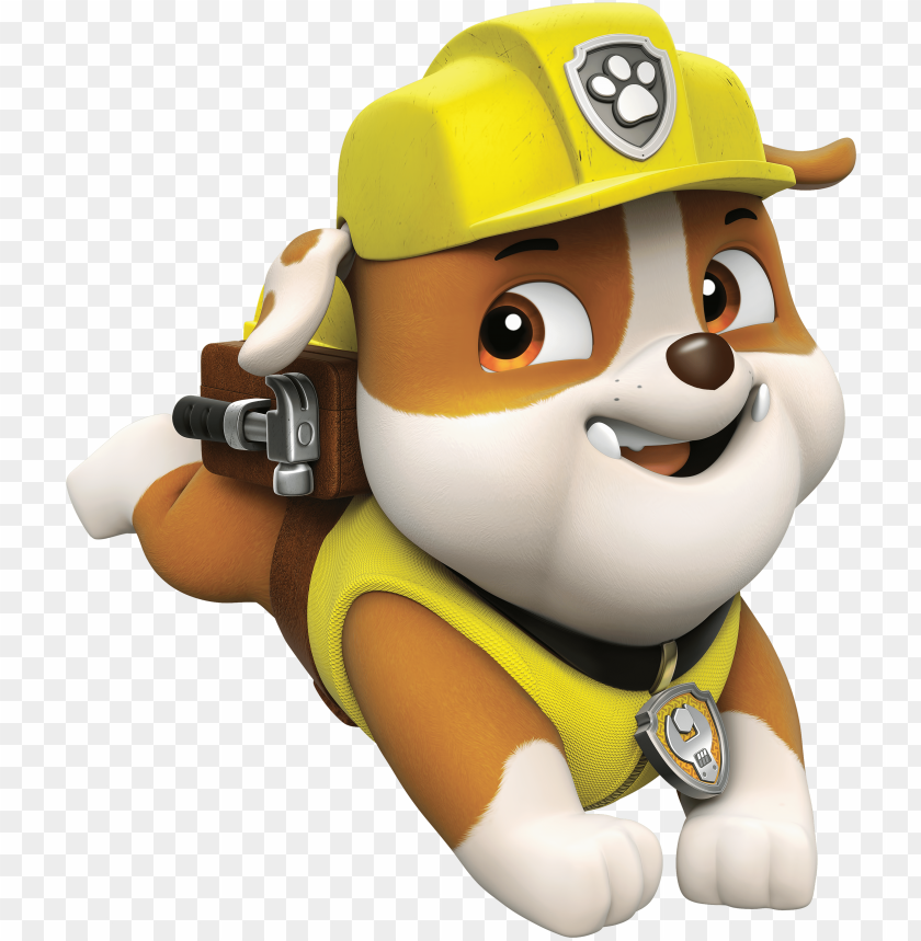 free PNG aw patrol rubble png cartoon image - rubble paw patrol clipart PNG image with transparent background PNG images transparent