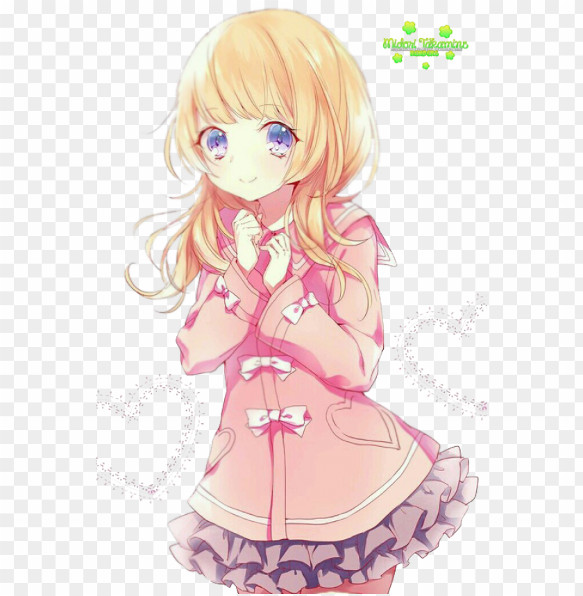 free PNG aw this anime girl looks really cute -credit to really - anime girl pink render PNG image with transparent background PNG images transparent