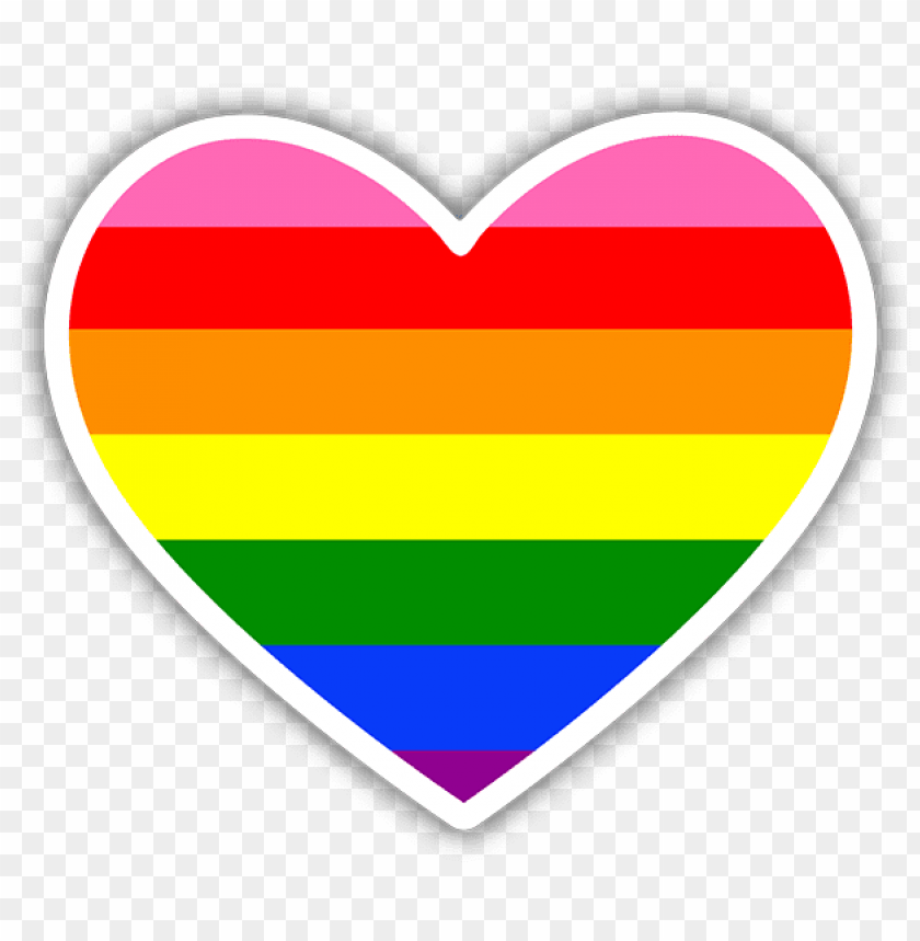 free PNG ay pride rainbow flag heart sticker - pride sticker transparent PNG image with transparent background PNG images transparent
