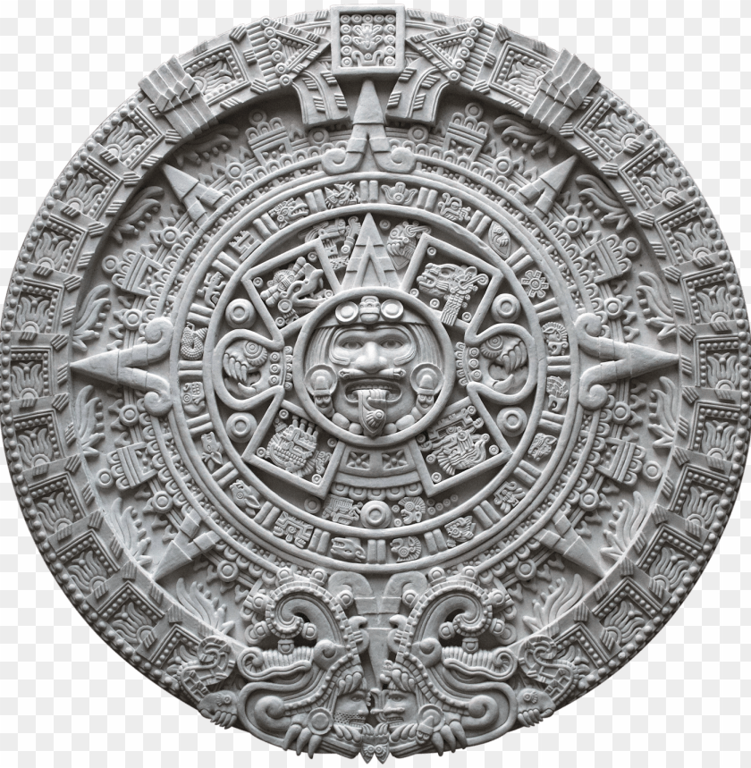 aztec calendar png aztec calendar - aztec calendar sun stone png image with