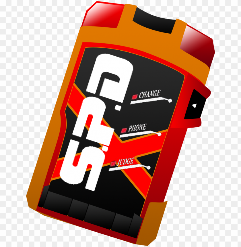 free PNG azzy fox my take on a deka ranger morpher - power rangers spd morpher PNG image with transparent background PNG images transparent