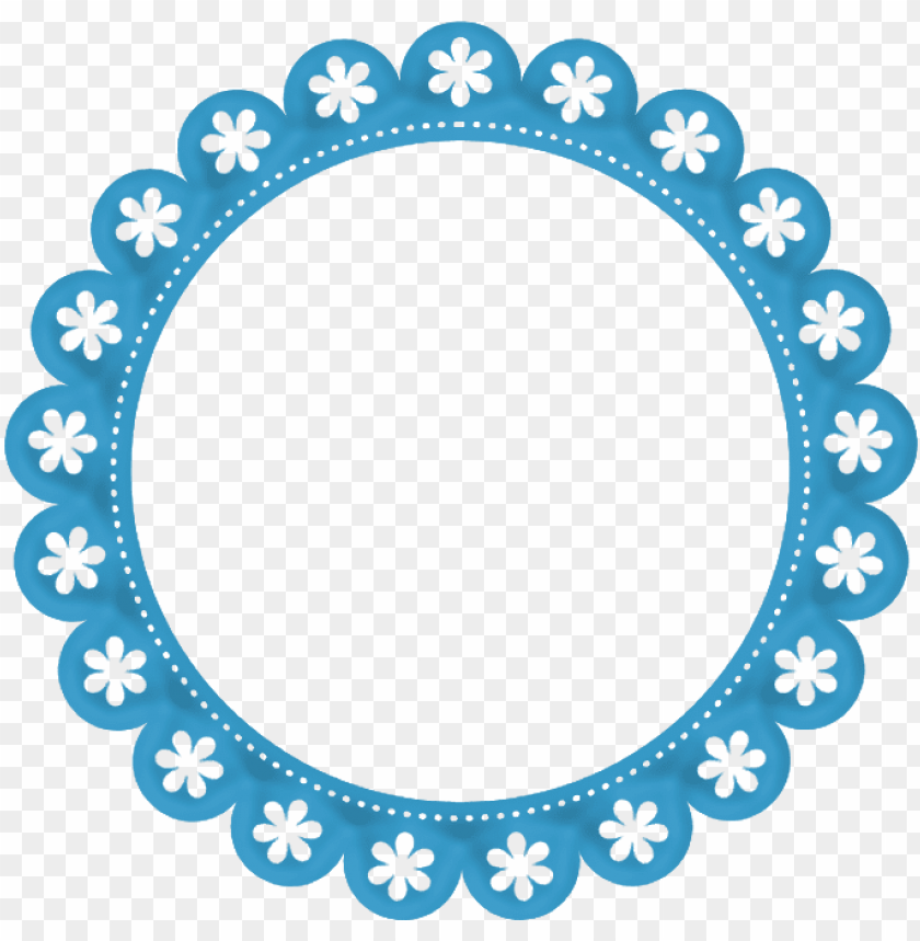free PNG b *✿* borders and frames, borders for paper, page borders - moldura redonda azul PNG image with transparent background PNG images transparent