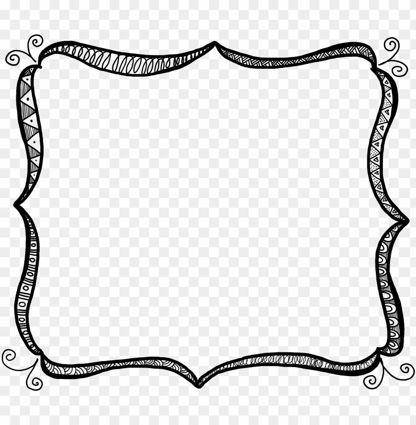 free PNG b e ef free frames and borders com page frames fancy - doodle frame clipart PNG image with transparent background PNG images transparent