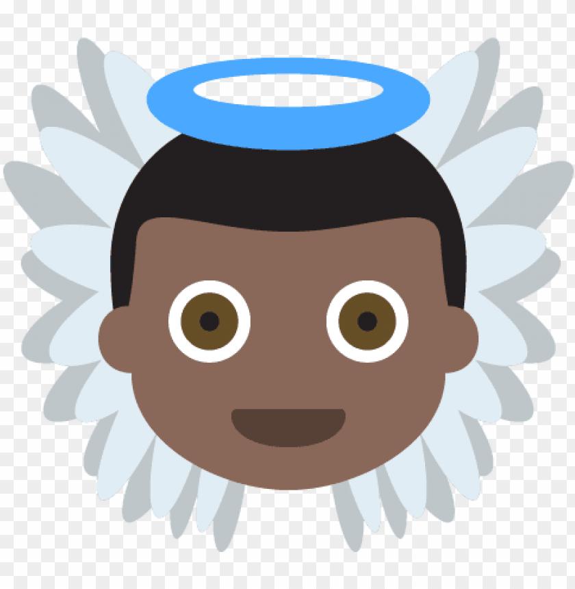 free PNG baby angel dark skin tone emoji emot vector icon - baby angel dark PNG image with transparent background PNG images transparent