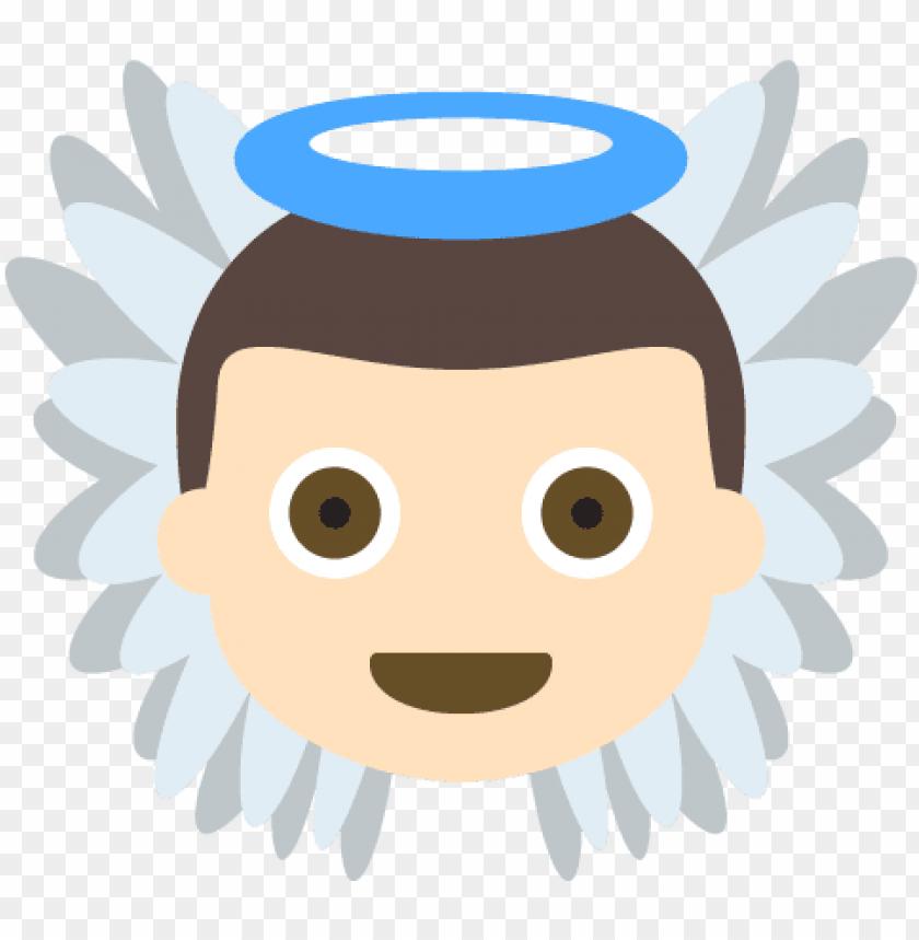 free PNG baby angel light skin tone emoji emot vector icon - emojis angelitos PNG image with transparent background PNG images transparent