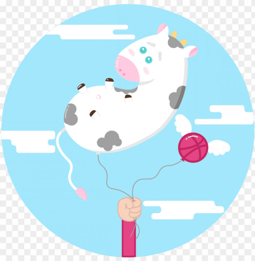 free PNG baby cow balloon adobe flat illustration baby cow balloon - cattle PNG image with transparent background PNG images transparent