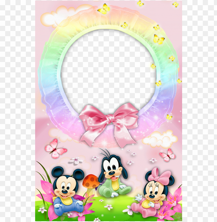 Baby Frame With Mickey Mouse Background Best Stock Photos Toppng
