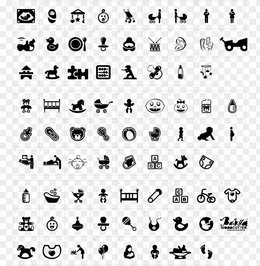 free PNG baby icons font - schriftart baby icons PNG image with transparent background PNG images transparent