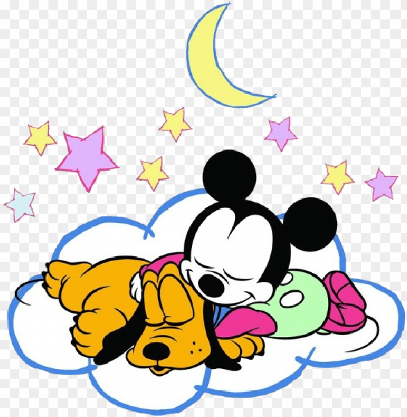 free PNG baby minnie mouse and pluto sleeping png baby mickey - sleepy mickey and minnie mouse PNG image with transparent background PNG images transparent