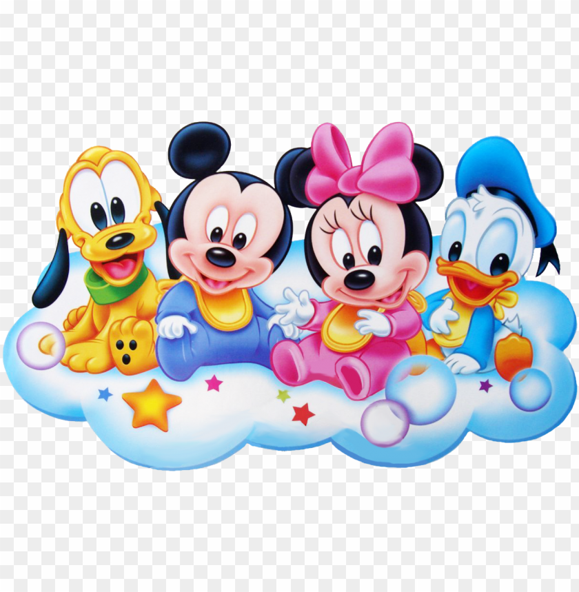 free PNG baby minnie mouse png panda free images - baby mickey mouse and friends PNG image with transparent background PNG images transparent