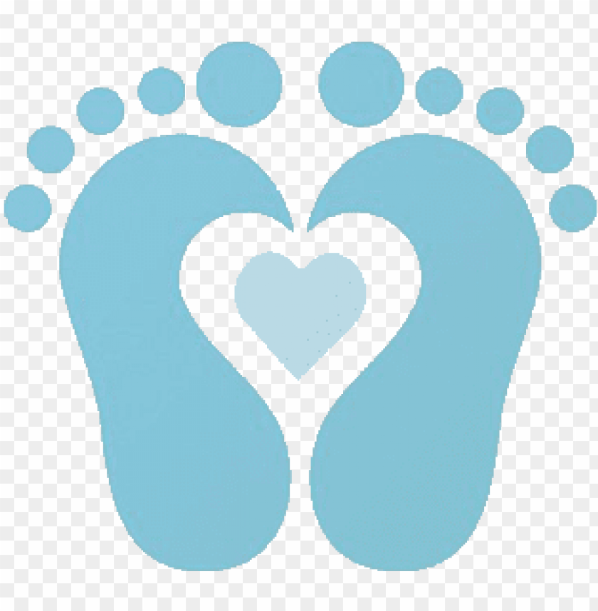 Baby Shower Boy Png Baby Feet With Heart Clip Art Png Image With Transparent Background Toppng