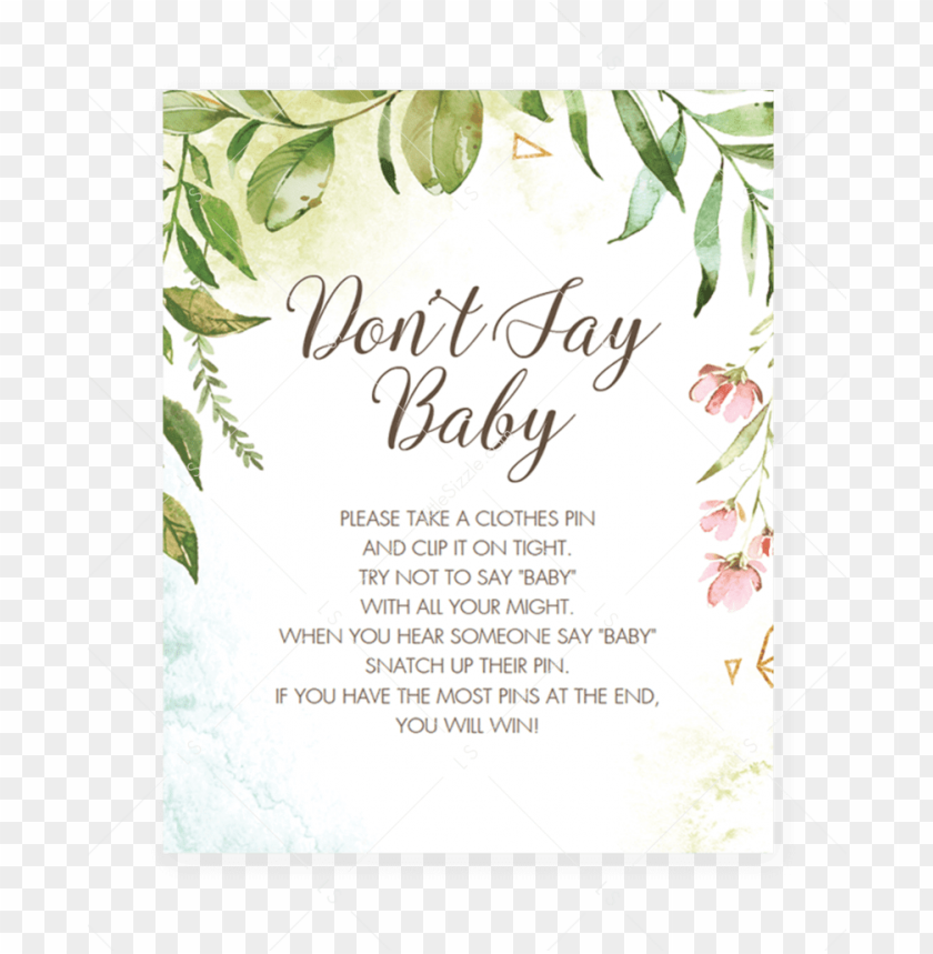 It is a graphic of Don T Say Baby Free Printable within alphabet