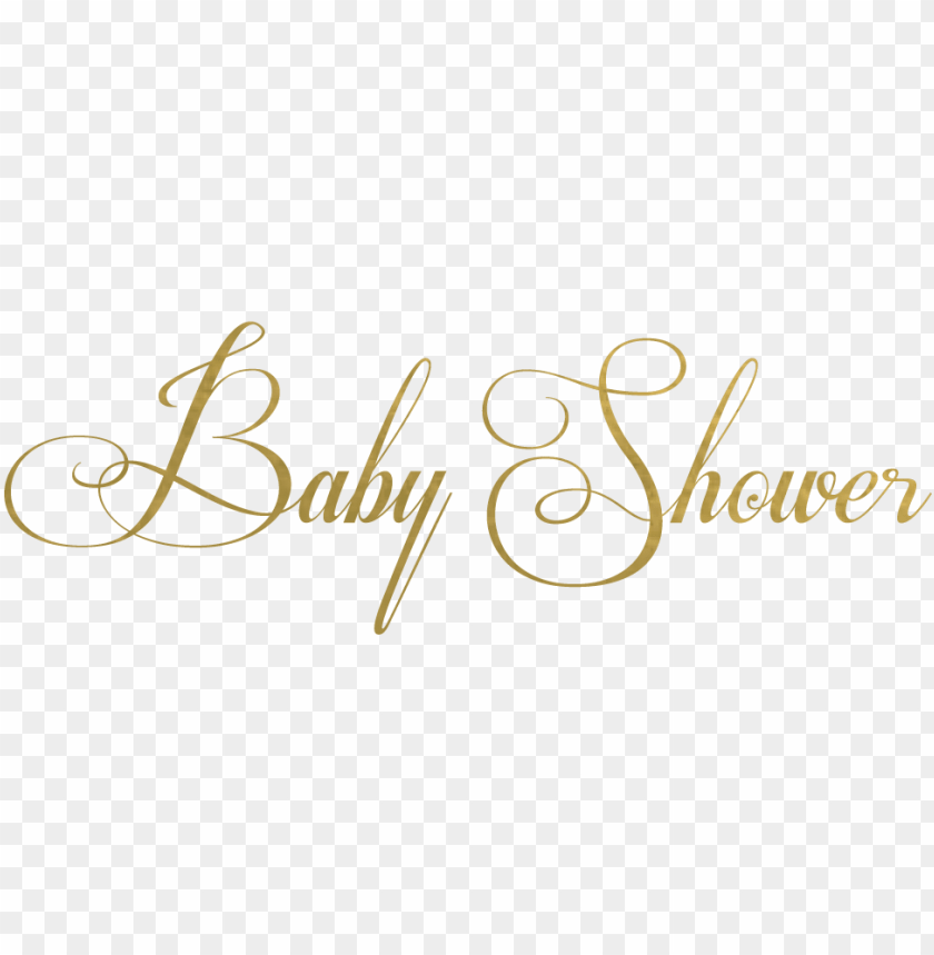 Baby Shower Text Png Gold Baby Shower Title Png Image With Transparent Background Toppng