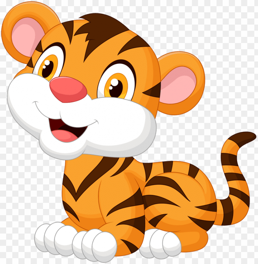 Baby Tiger Cartoon Png Image With Transparent Background Toppng