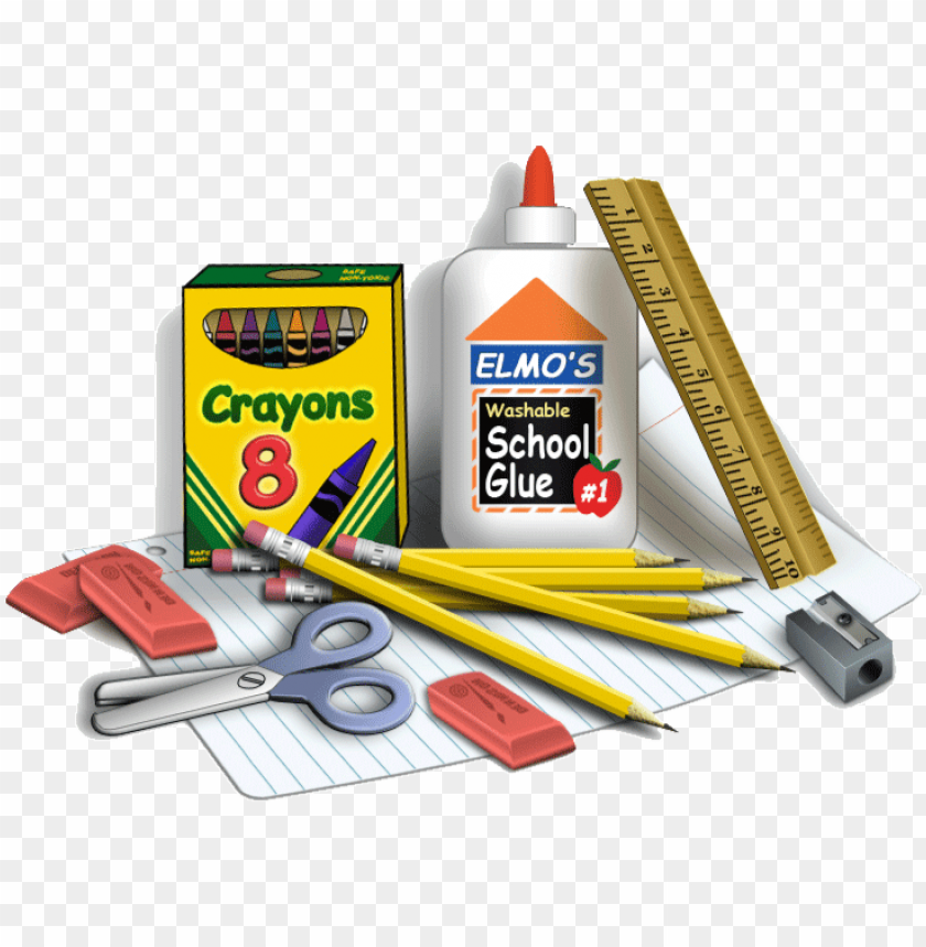 free PNG back to school supplies png clip art black and white - school supply PNG image with transparent background PNG images transparent