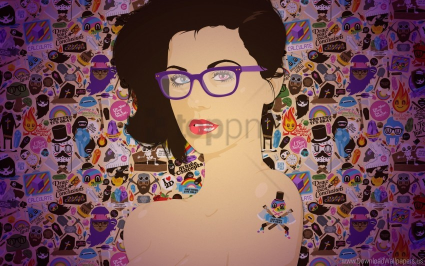 free PNG background, colorful, face, girl, glasses, makeup wallpaper background best stock photos PNG images transparent