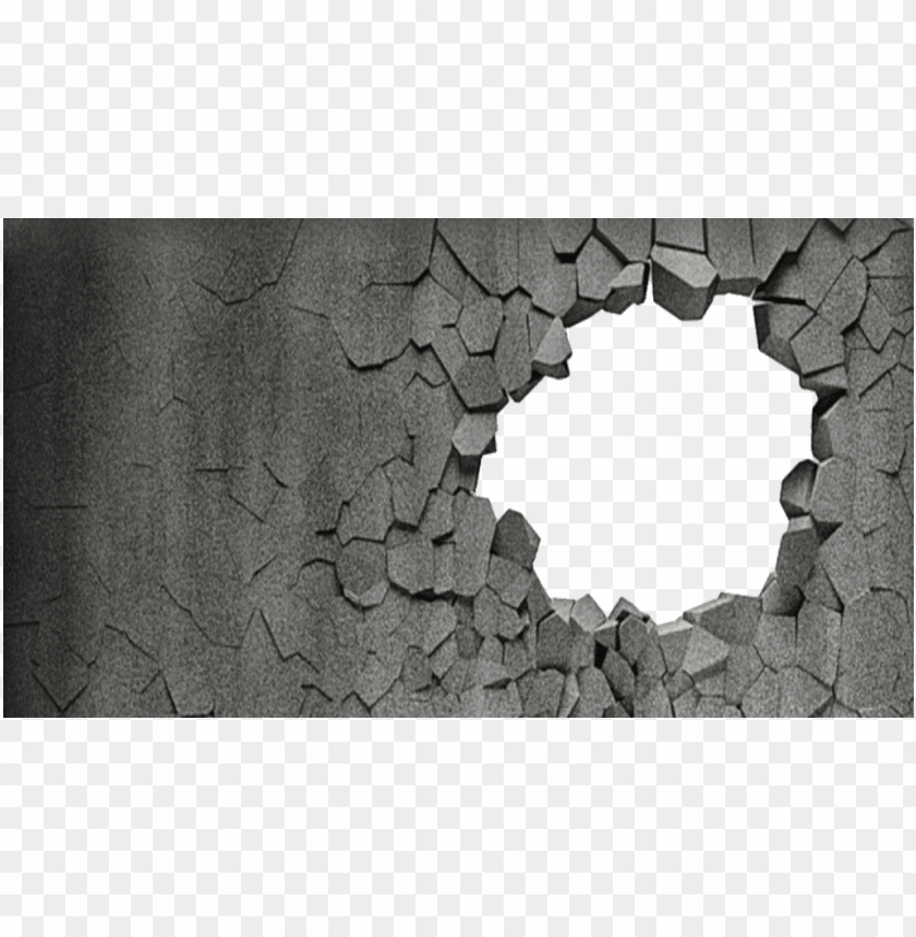 free PNG #background #coolbackground #broken #wall #brokenwall - broken hole wall texture PNG image with transparent background PNG images transparent