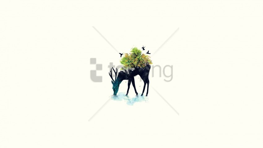 free PNG background, deer, minimalism, nature, vector wallpaper background best stock photos PNG images transparent
