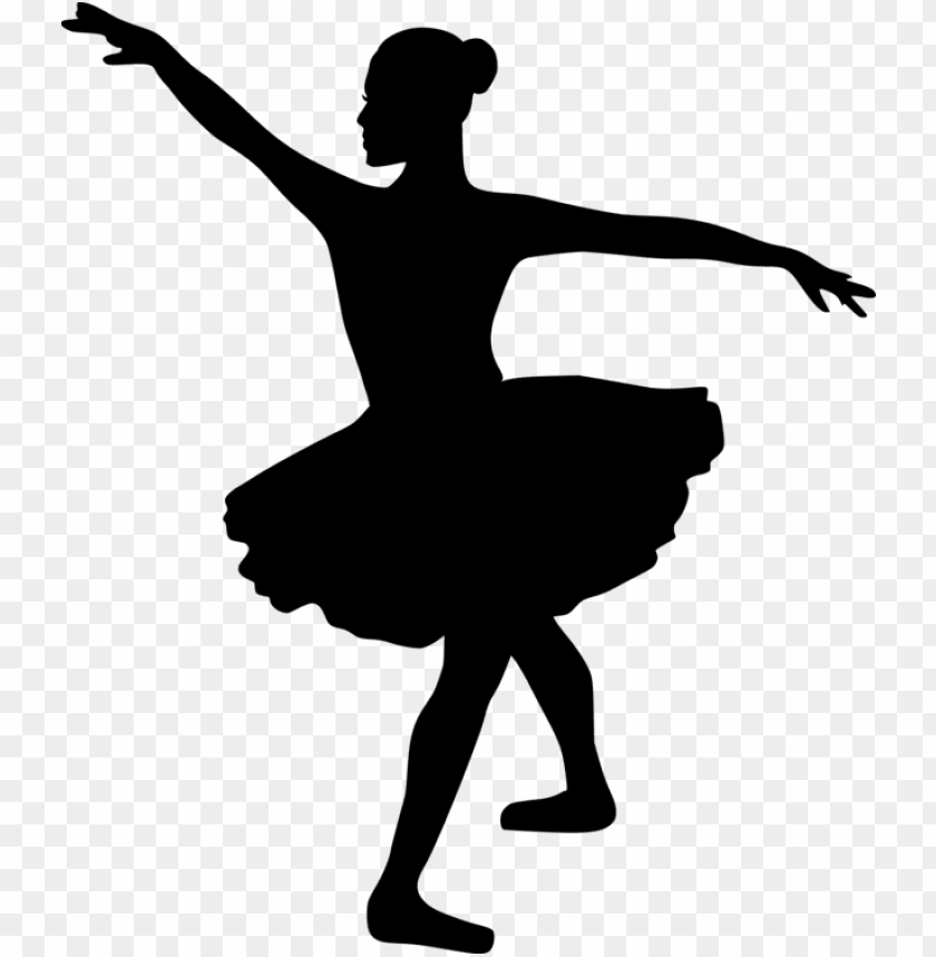 Ballet Dancer Silhouette Tutu Ballerina Clipart Black And White Png Image With Transparent Background Toppng