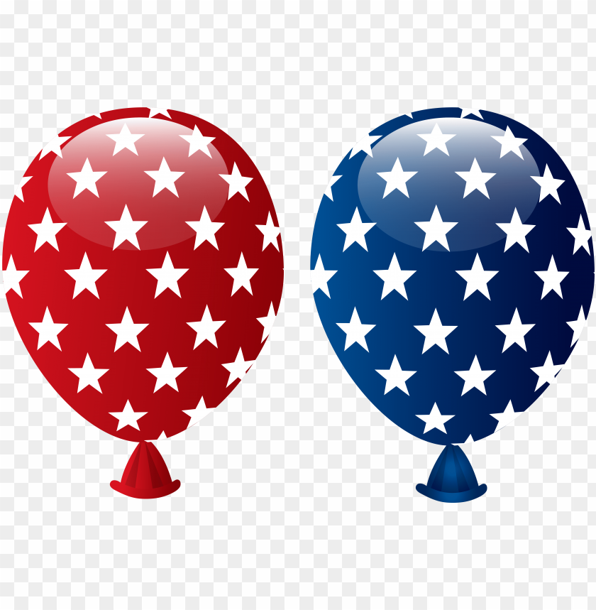 free PNG balloon clipart 4th july - 4th of july balloons clipart PNG image with transparent background PNG images transparent